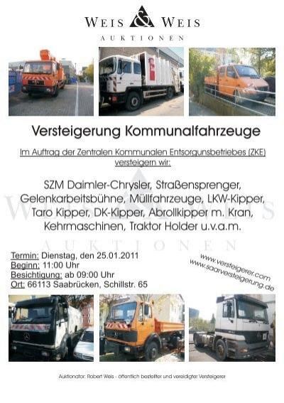 Versteigerung Kommunalfahrzeuge - Weis und Weis Auktionen GmbH