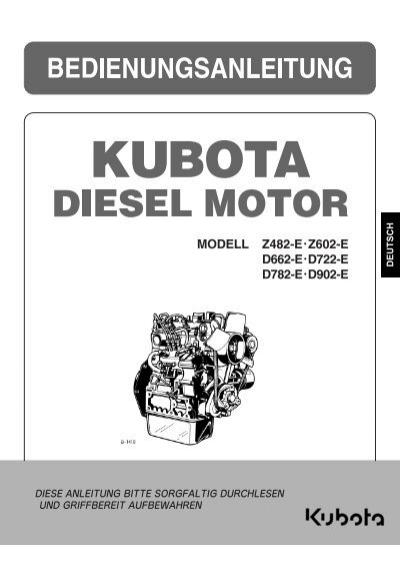 Werkstatthandbuch Kubota Z482 - 722