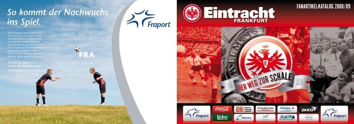Eintracht Frankfurt Briefmarke vom Sponsor