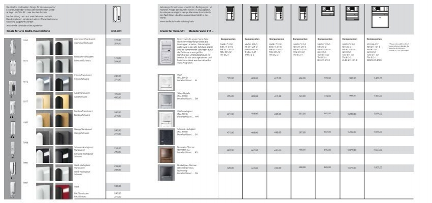 ersatz f r alte siedle haustelefone ersatz f r vario 511. Black Bedroom Furniture Sets. Home Design Ideas