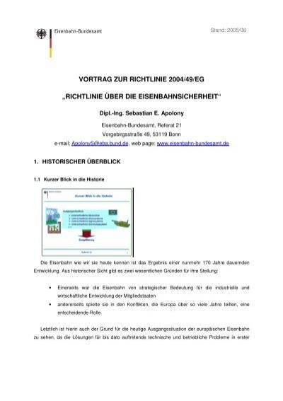 richtlinie über die eisenbahnsicherheit - SLV Hannover