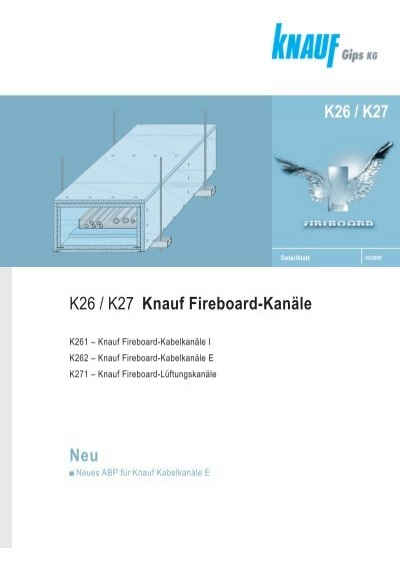 k261 knauf fireboard kabelkan le i trockenbau saygin. Black Bedroom Furniture Sets. Home Design Ideas