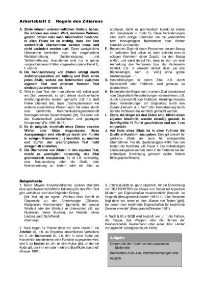Arbeitsblatt 1 Kennzeichn