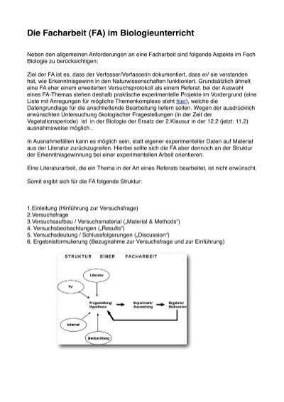 Facharbeit 1 Strukur Und Themen Pdf Datei 123 Kb Pling Factory