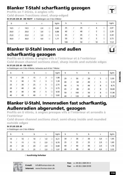 BLANKSTAHL Blanker Winkel