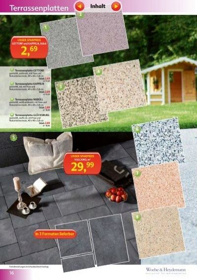 9 10 terrassenplatte vulc. Black Bedroom Furniture Sets. Home Design Ideas