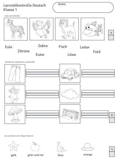 lernzielkontrolle deutsch klasse 1 zebra zitrone pinguin klasse. Black Bedroom Furniture Sets. Home Design Ideas