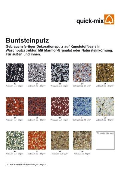 buntsteinputz quick mix. Black Bedroom Furniture Sets. Home Design Ideas