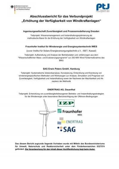 Abschlussbericht für das Verbundprojekt - FGW