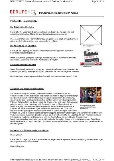 Berichtsheft Fachkraft FГјr Lagerlogistik Download