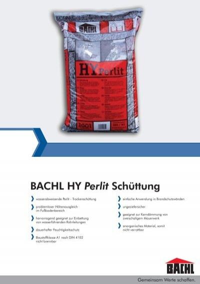 bachl hy perlit sch ttung karl bachl gmbh co kg. Black Bedroom Furniture Sets. Home Design Ideas