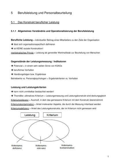 Kapitel 5: Berufsleistung und Personalbeurteilung - Beabea-Blog