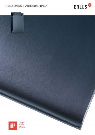 technische details ergoldsbacher linea. Black Bedroom Furniture Sets. Home Design Ideas