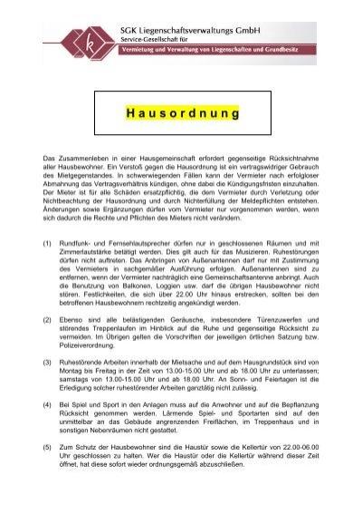 Hausordnung Kling Groupde