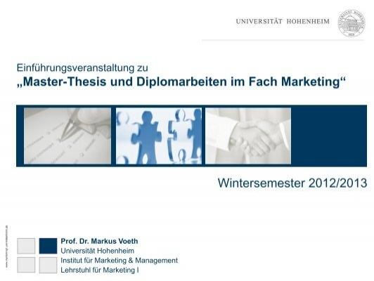 Master thesis themen marketing