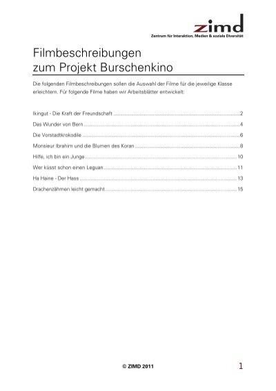 filmbeschreibungen zum projekt burschenkino zimd. Black Bedroom Furniture Sets. Home Design Ideas