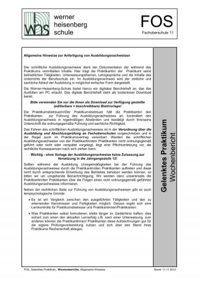 Vorlage wochenbericht bürokaufmann praktikum Ausbildung Bürokauffrau