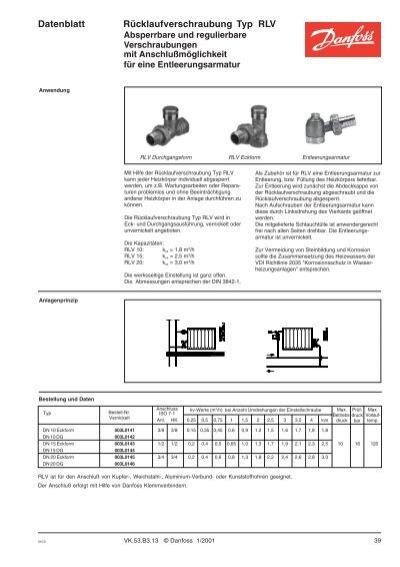 """003L0141 Danfoss Rücklaufverschraubung RLV 10 vernickelt 3//8/"""" Eck"""