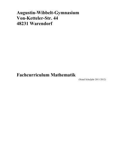 schulcurriculum awg mathematik