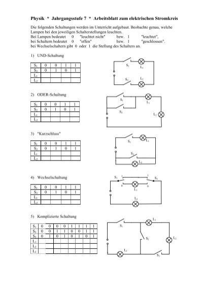 einfache elektrische Schaltungen