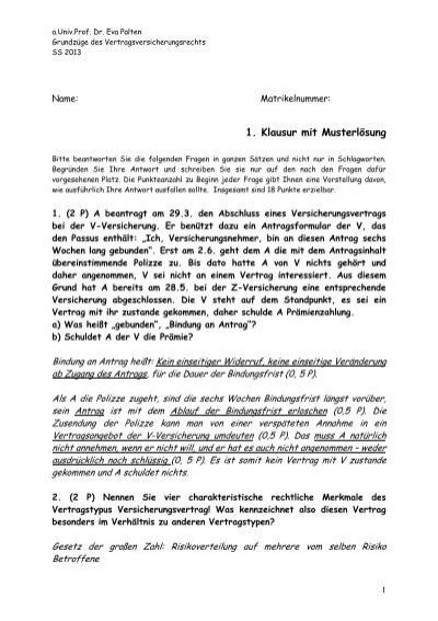 1klausur Ml Ss 2013 Institut Für Recht Der Wirtschaft Ordinariat