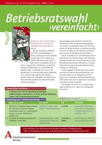 Betriebsratswahlen Vereinfacht Bei Der Arbeitnehmerkammer Bremen