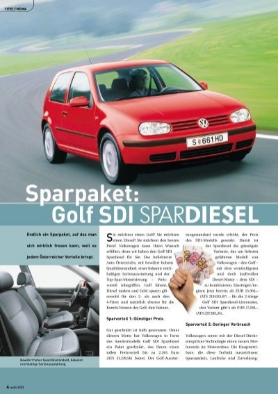 sparpaket golf sdi spardiesel volkswagen. Black Bedroom Furniture Sets. Home Design Ideas
