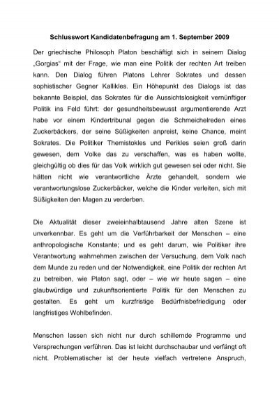 Schlusswort Der Veranstaltung Aktionsgemeinschaft Soziale