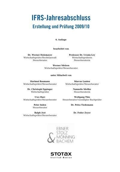 Ifrs Jahresabschluss Erstellung Und Prüfung 200910