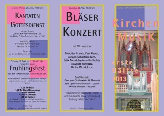 programm flyer f rderkreis f r kirchenmusik nea. Black Bedroom Furniture Sets. Home Design Ideas