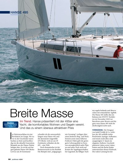 breite masse hanse yachts. Black Bedroom Furniture Sets. Home Design Ideas