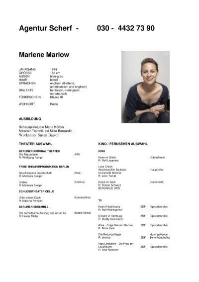 Marlene marlow heute