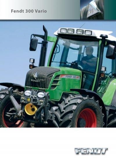 FENDT 216 FENDT 300 VARIO Traktoren Prospekt von 01//2018