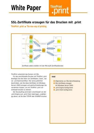 White Paper SSL-Zertifikate erzeugen für das Drucken mit .print ...