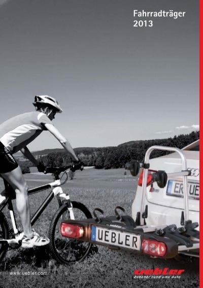 Uebler Deichselträger DT1 für 2 Fahrräder 60kg Rahmen klappbar Aluminium 11004