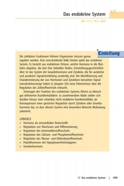 Das endokrine System - Biochemie - Nachhilfe