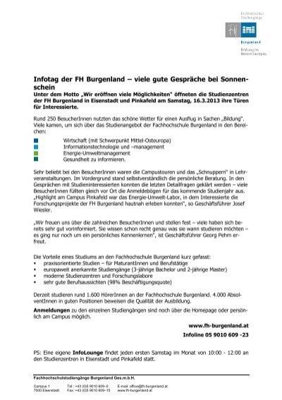 Fachhochschule Burgenland - Thema auf huggology.com