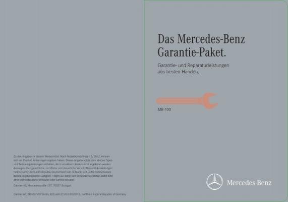 garantie paket mb 100 mercedes benz niederlassung frankfurt. Black Bedroom Furniture Sets. Home Design Ideas