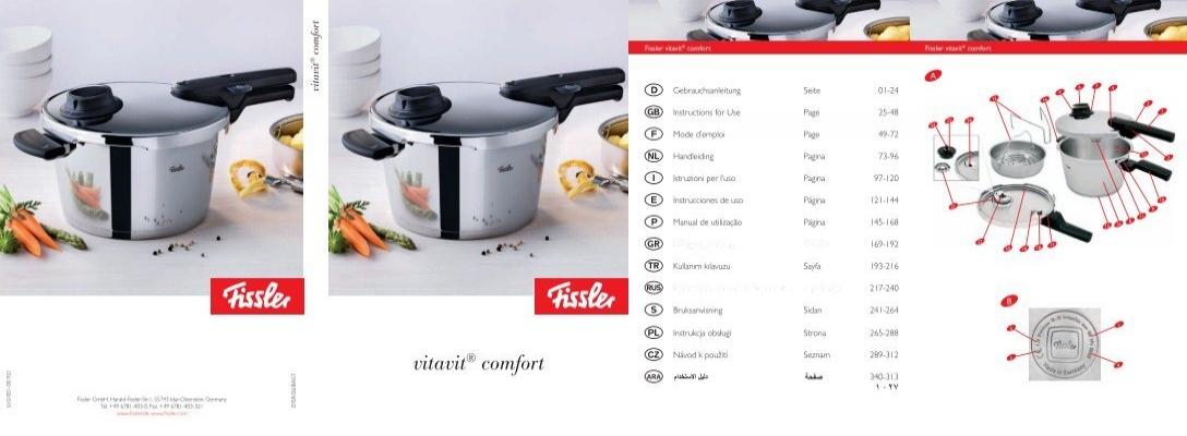 Fissler Schnellkochtopf vitavit comfort 6,0 l Cookstar Induktion ohne Einsatz