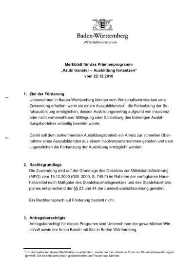 Azubi transfer – Ausbildung fortsetzen - Weiterbildung in Baden ...