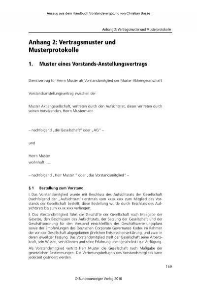 Anhang 2 Vertragsmuster Und Musterprotokolle Firmextra