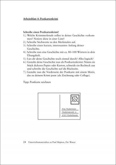 Arbeitsblatt 4: Postkarte