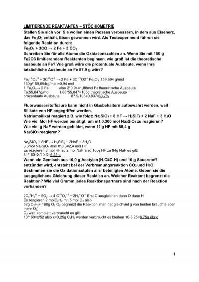 Ausgezeichnet Stöchiometrie Arbeitsblatt 2 Antworten Galerie ...
