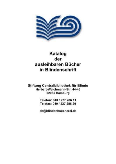 Ausleihbare Bucher In Blindenschrift Stiftung Centralbibliothek Fur
