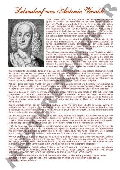 lebenslauf von antonio vivaldi ame lyss - Antonio Vivaldi Lebenslauf