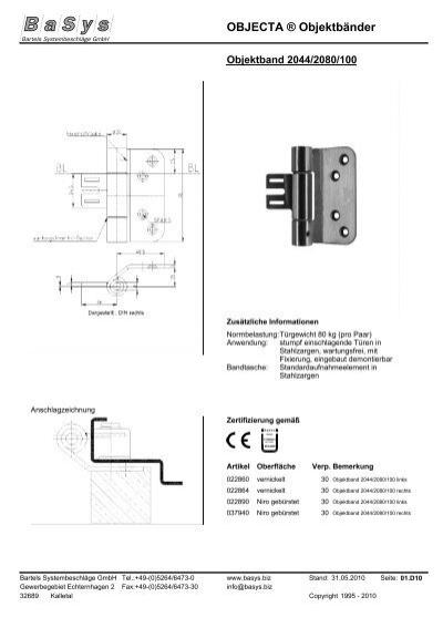 objecta objektb nder bartels systembeschl ge gmbh. Black Bedroom Furniture Sets. Home Design Ideas