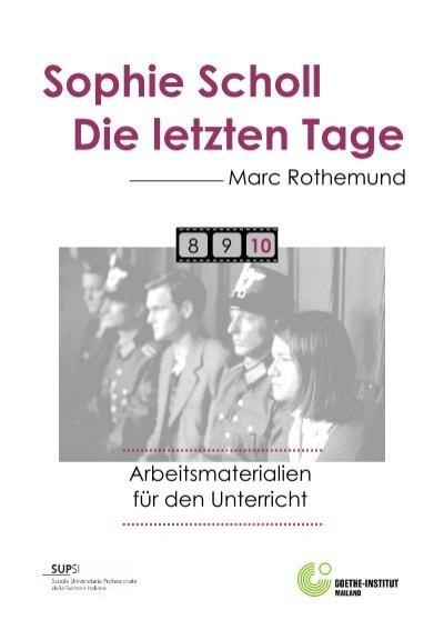 Sophie Scholl Die Letzten Tage