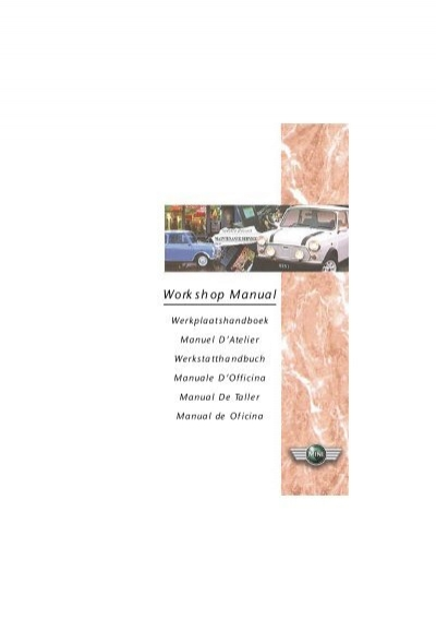 austin mini workshop manual pdf