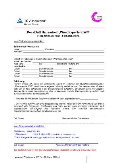 Deckblatt Hausarbeit Dsb Vereinsmanager A Lizenz
