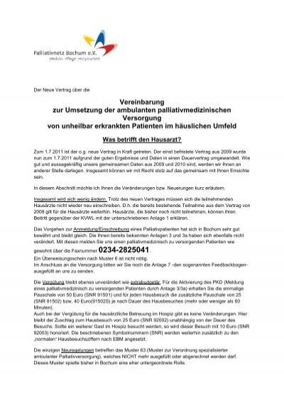 Vereinbarung Zur Umsetzung Der Ambulanten